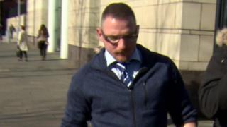 Jonathan Ginn pictured outside Belfast Crown Court