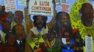 Reading black history mural