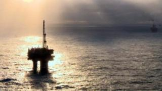 Oil platforms in the North Sea