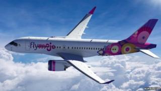 Bombardier's CS100 plane