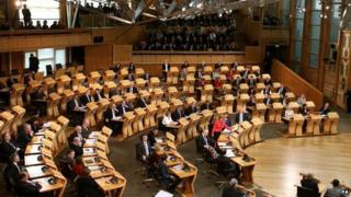 Interior of Scottish Parliament
