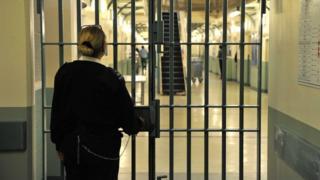 Woman warden in a prison