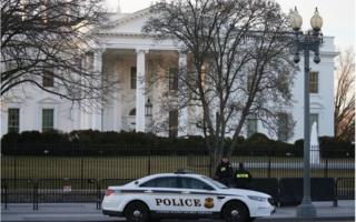 Secret Service officers at the White House