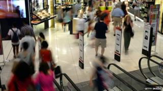 Shoppers in Westfield Australia