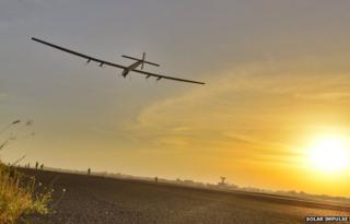 Solar Impulse-2 takes off from Ahmedabad, 18 March 2015