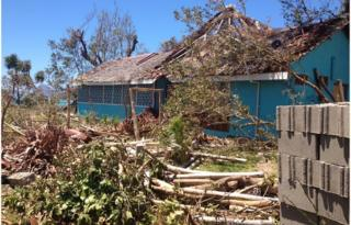 Picture of devastation on Taloa