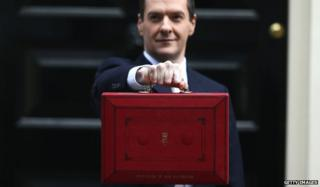 George Osborne outside number 11
