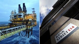 Oil platform, Bank Street sign