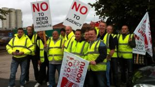 Zero-hours contract protesters