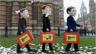 Tax dodging protestors