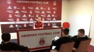 School Report team at Aberdeen FC
