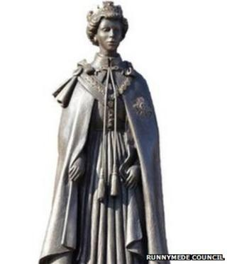 Proposed statue of the Queen
