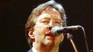 Close-up of Eric Clapton