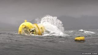 Aquamarine Power Oyster device