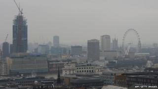 A view over London on 19 March, 2015