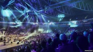 Winning design for Bristol Arena