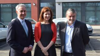 (Left to right) Andrew McCully, director general at Department for Education, Jenny Chapman, MP for Darlington, and Councillor Bill Dixon, leader of Darlington Borough Council