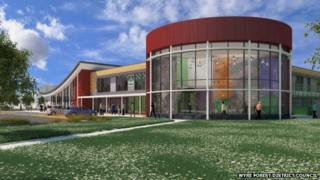 Artist's impression of a new leisure centre in Kidderminster