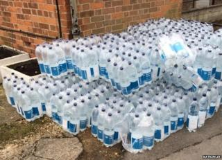 Water bottles handed out by Thames Water