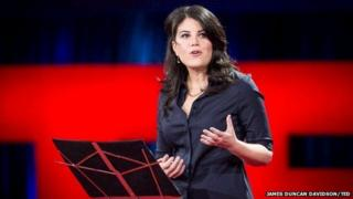 Monica Lewinsky on the Ted stage