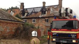 House fire in North Elmham