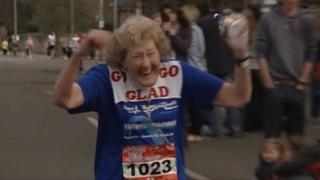 Lincoln 10K runner Gladys Tingle in 2011