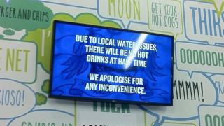 "Manchester City announcement about ""local water issues"""