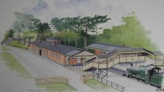 An artist's impression of the new station at Broadway
