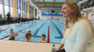 Rebecca Adlington at the new Selby leisure centre