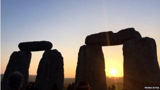 Spring equinox at Stonehenge, Wiltshire