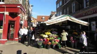 The old Newgate Market in York