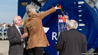 Naming ceremony for Roland Hough launch system