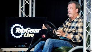 Jeremy Clarkson at a Top Gear Live show
