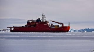 Australian icebreaker the Aurora Australis turned around in heavy ice to rescue a seriously ill expeditioner