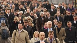 people on London bridge