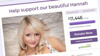 Hannah Witheridge fundraising page