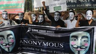 A protest in support of internet freedom in Mumbai in June 2012