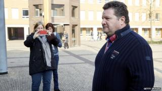 Willy Selten arrives at court in Den Bosch on 24 March, 2015