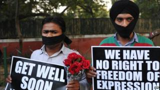 Protest against internet censorship in India