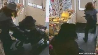 CCTV image of armed robbery at Boston Spa post office