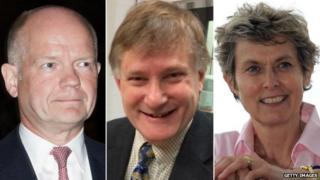 William Hague, Sir Hugh Bayley and Anne McIntosh