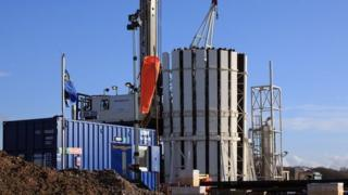 There has been local opposition to shale gas test wells