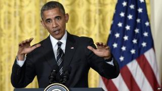 Obama speaking on Tuesday