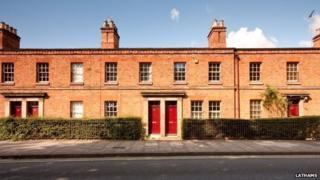 Railway cottages in Derby