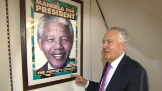 Peter Hain and Nelson Mandela poster