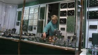 Jill Archer in her jewellery shop in Ashford