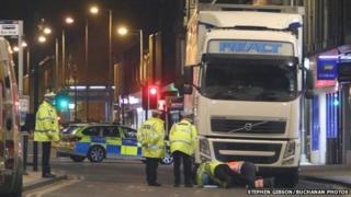 Woman trapped under lorry in Wishaw