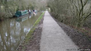 Caldon Canal towpath, Staffordshire