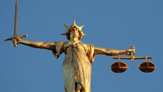 The figure of Lady Justice on the top of the Old Bailey