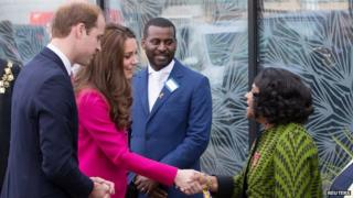 The Duke and Duchess of Cambridge meet Baroness Lawrence